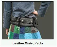 Leahter waist pouch